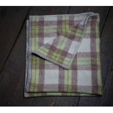 Caramel , Cream & Lime Gender neutral Welsh baby blanket BB23