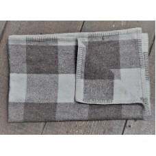 New Natural Jacobs wool check baby blankets. BBN89 Gender neutral