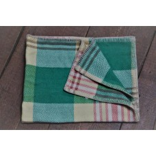 Chevron Weave. Mid century plaid Welsh baby blankets BB66