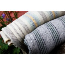Cilcennin Mill striped Welsh blanket.An unusual colourway. NLSS12