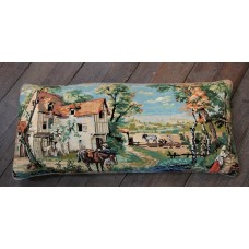Large bolster cushion. Rural Scene CZB05