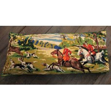 Large bolster cushion Stag & hounds CZB04