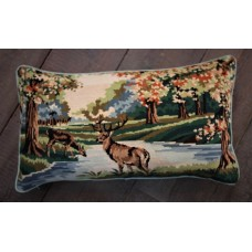 Bolster cushion. Autumn stag CZB07