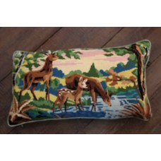 Bolster cushion. Deer at the stream CZB06