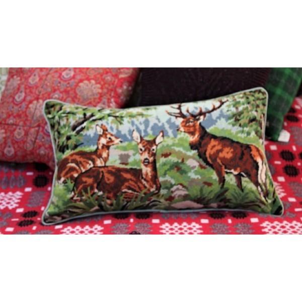 Bolster cushion . Red Deer. CZB09