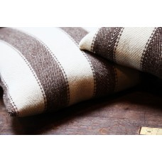 Broad stripe cushions.  Jacobs wool CZSS67