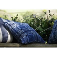 Knot Garden Melin tregwynt cushion CZ174 indigo