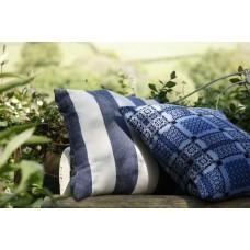 Broad stripe cushion. Melin Tregwynt CZ176. Indigo