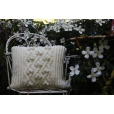 Hand knitted Aran Cushion, Bobbles. CZK10