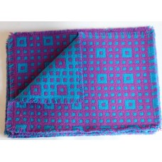 Boxed set of  6 DERW Mill Place mats . Teal & Violet PC41