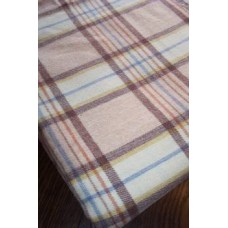Narrow loom Welsh blanket Chocolate Herringbone NL07