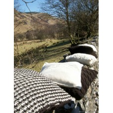 Welsh Mountain wool cushion.  Carmarthenshire Herringbone