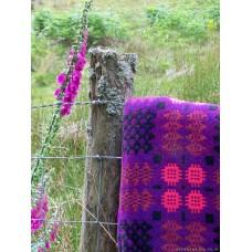 Violet & Foxglove Caernarfon tapestry bedcover TBV23