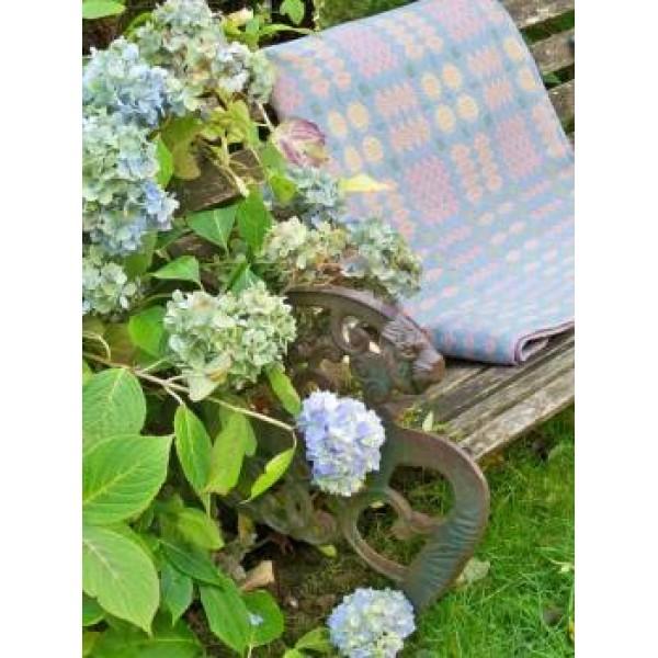 Hydrangea Blue, Apricot & Dusky Pink tapestry     TBV75