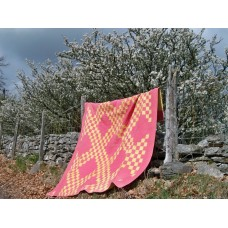 Rare Carmarthenshire patchwork in Pink & Yellow Q25