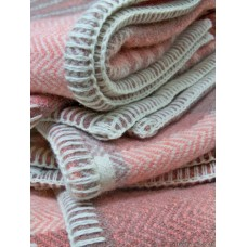 Milk Chocolate & Salmon Pink ZigZag weave baby blankets BB99