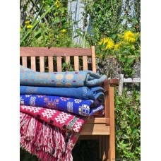 Wedgewood Blue & Madder Red Caenarfon tapestry C1920 TBV83
