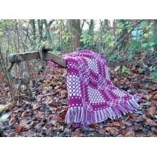 Dyffryn Teifi tapestry in Damson Welsh blanket TBN27