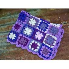 Hand crochet granny squares Lavender & Violet GS99