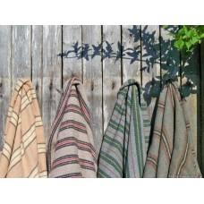 Slate Grey & Chestnut striped blanket NL101