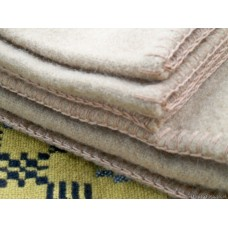 Mustard pure wool Welsh Blanket KING CC14