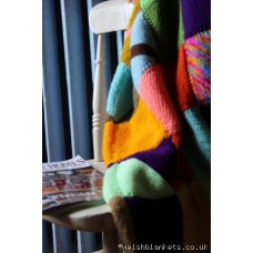 New Hand knitted patchwork blanket GS02