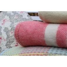 Stick of Rock Pink stripe Welsh blankets. CC02