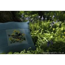 Wagtails needlepoint cushion CZ32