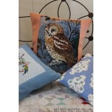 Tawny Owl Needlepoint cushion Gwdy Hw NP02
