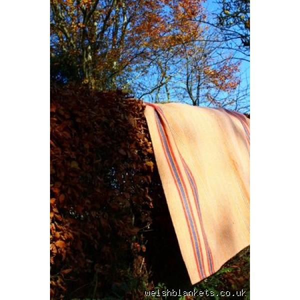 Cilcennin Mill 1930s striped blanket NL01