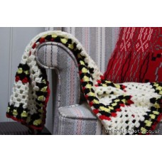 Hand crocheted throw. Goldfinch T13