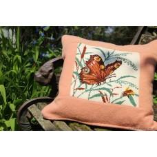 Peacock Butterfly cushion CZT56