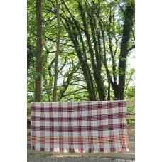 Fabulous C19th heavy carthen Welsh blanket FB138