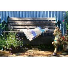 Reverse Twill in Violet, Honey & Teal Welsh blankets CPN56