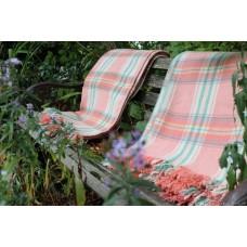 Welsh Geranium Pink DERW Mill blanket Birdseye weave carthenni FB56