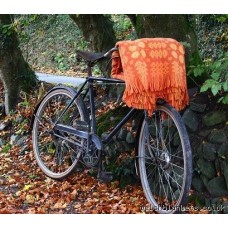 Orange Caernarfon bedcovers Welsh blanket TBN07