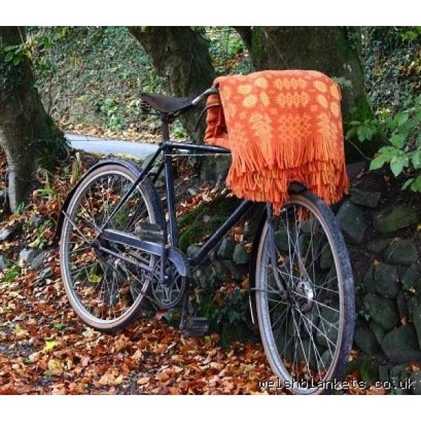 Orange Caernarfon bedcovers Welsh blanket TBN17