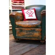 Turkey Red & White Flower Basket cushions CZQ10