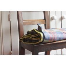 Huge pure wool blanket. Denim & Daffodil, Rose &  Jade CP45