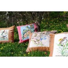Needlepoint cushions . British birds