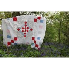 Huge Victorian patchwork English quilt Q21