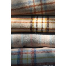 Chestnut plaid Narrow width blanket C1930 NL22