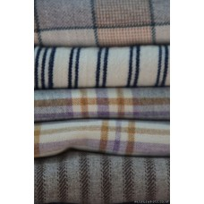 Cream & Indigo striped narrow width blanket NL83