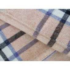 Biscuit , Lavender & Charcoal Black plaid NL22