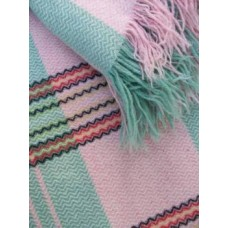 Fresh Peppermint & Cherry Blossom Pink Welsh blanket   FB47