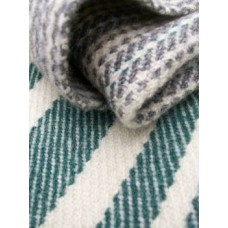Aberarth Mill narrow width blanket in Teal Green stripe NL18