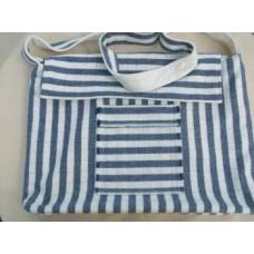 Welsh Flannel Baby changing bag in Indigo stripe   BCB2 LAST ONE