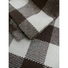 Undyed wool in a Brown & Cream checkerboard  NL30