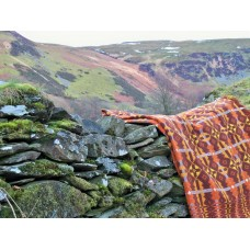 Brynkir Tapestry Welsh blanket in Woodland colours TBN42