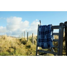 Brand New China Blue Caernarfon tapestry Welsh blanket TBN22